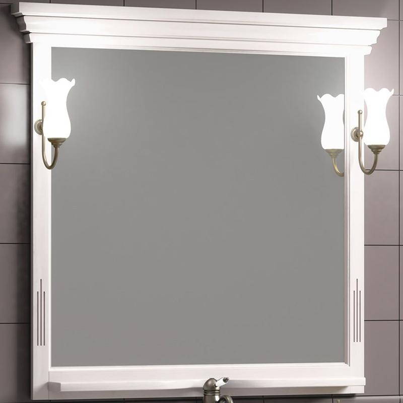 Фото - Зеркало Opadiris Риспекто 95 Z0000012538 Белое матовое мебель для ванной opadiris риспекто 105 беленый бук