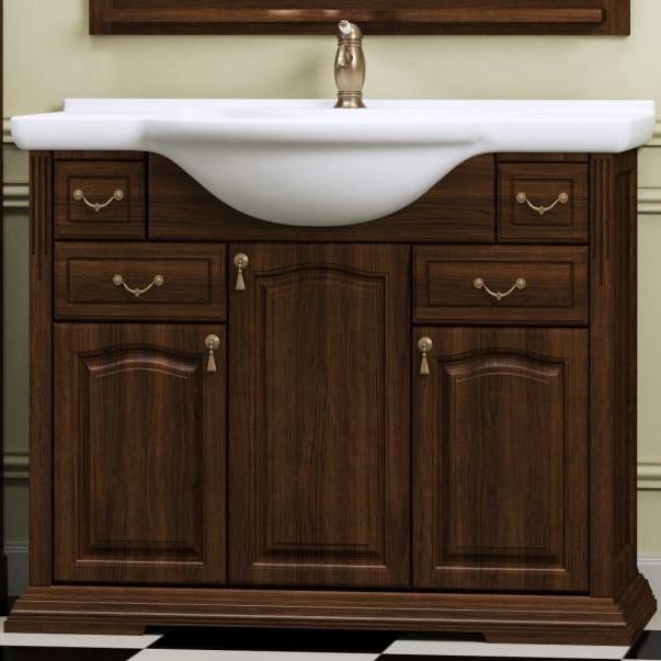 Фото - Тумба под раковину Opadiris Риспекто 105 Z0000001784 Орех антикварный ручки Бронза мебель для ванной opadiris риспекто 105 беленый бук