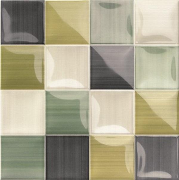 Керамическая плитка Mainzu Lucciola Volumen Green настенная 20х20см