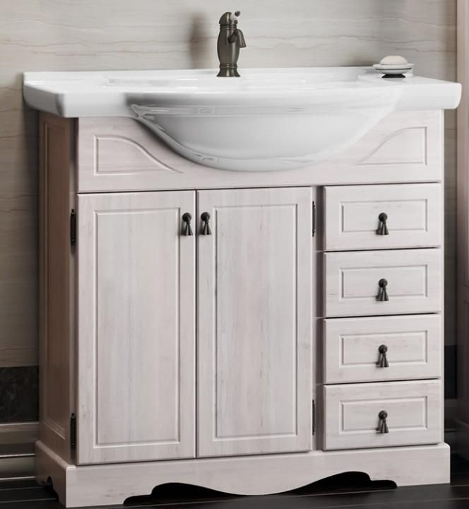 Фото - Тумба под раковину Opadiris Клио 80 Z0000001085 Беленый бук мебель для ванной opadiris риспекто 105 беленый бук