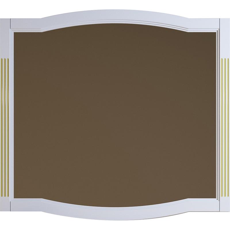 Зеркало Opadiris Лаура 120 Z0000009325 Белое матовое с золотой патиной