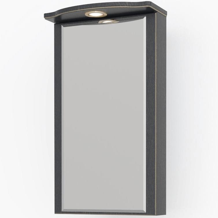 Зеркальный шкаф Какса-А Патина 37 4359 угловой Черный с золотом зеркальный шкаф какса а сити 105 004418 подвесной серый гранит