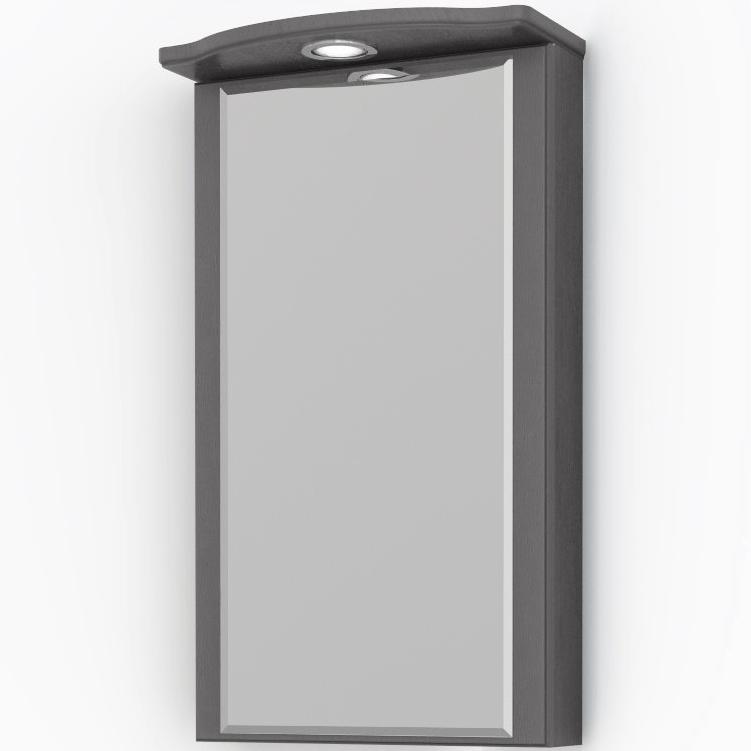 Зеркальный шкаф Какса-А Патина 37 004535 угловой Серый с черным зеркальный шкаф какса а сити 105 004418 подвесной серый гранит