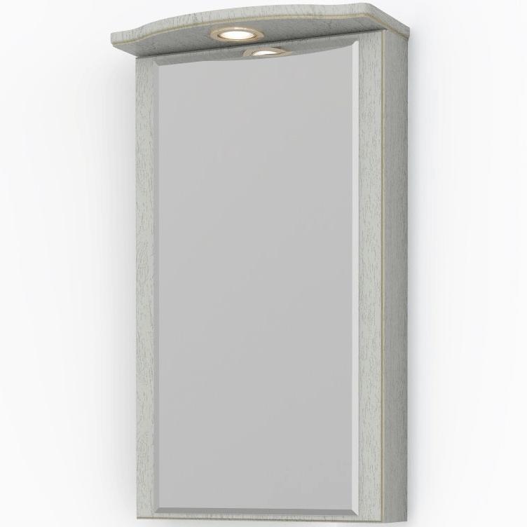 Зеркальный шкаф Какса-А Патина 37 004501 угловой Бежевый с золотом зеркальный шкаф какса а сити 105 004418 подвесной серый гранит
