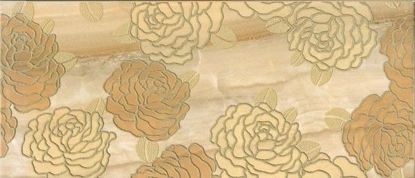 Керамический декор М-Квадрат Антарес Розы желтый 334432 20х45см