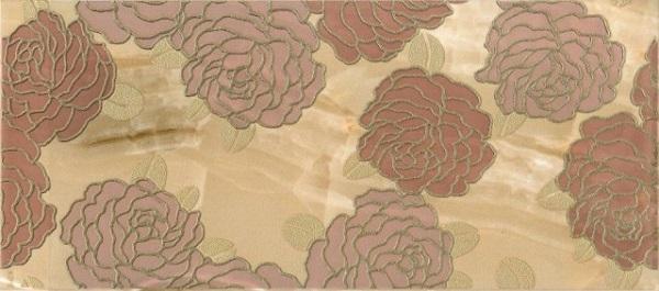 Керамический декор М-Квадрат Антарес Розы Коричневый 334462 20х45см