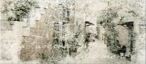 Керамический декор М-Квадрат Граффито Сити Серая 2 20х45см