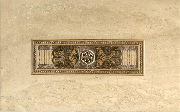 Керамический декор М-Квадрат Империал Декор 1 Светлый 343761 25x40см