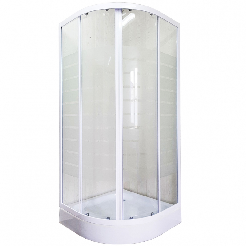 Душевой уголок Luxus Anta L017 80х80 профиль Белый стекло прозрачное с принтом футболка anta anta an225egsww33