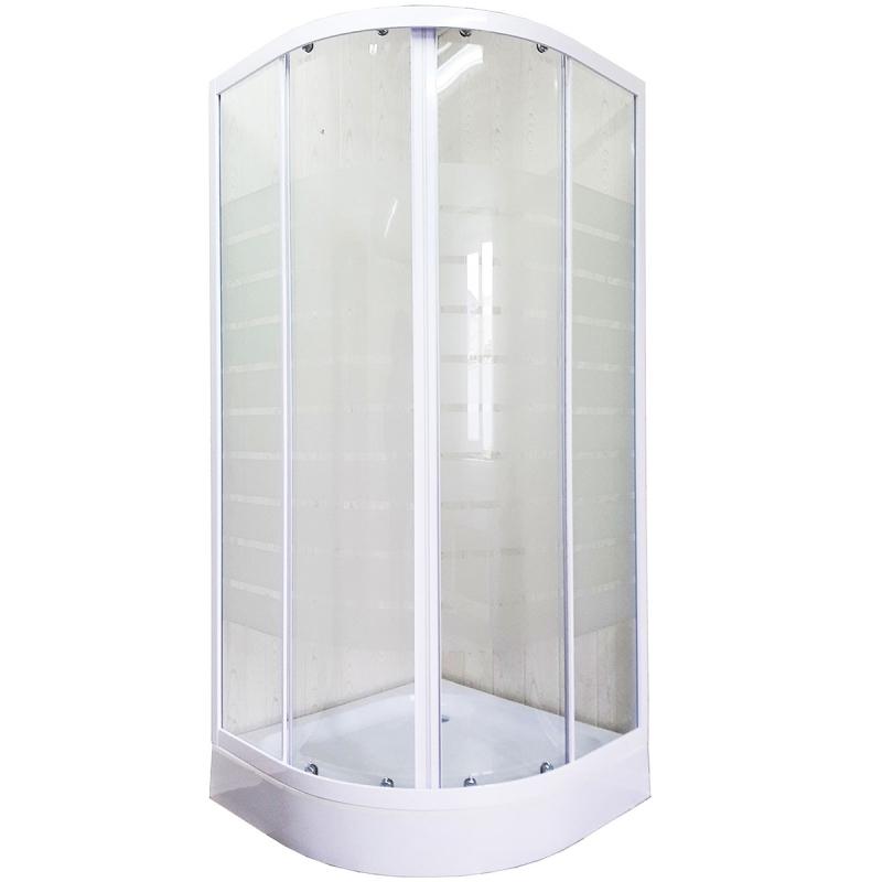 Душевой уголок Luxus Anta L019 90х90 профиль Белый стекло прозрачное с принтом футболка anta anta an225egsww33