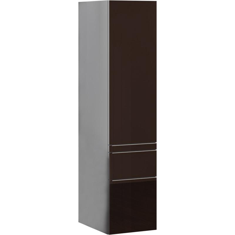 Шкаф пенал Opadiris Кристалл 30 R Z0000010386 подвесной Коричневый/Титан фото