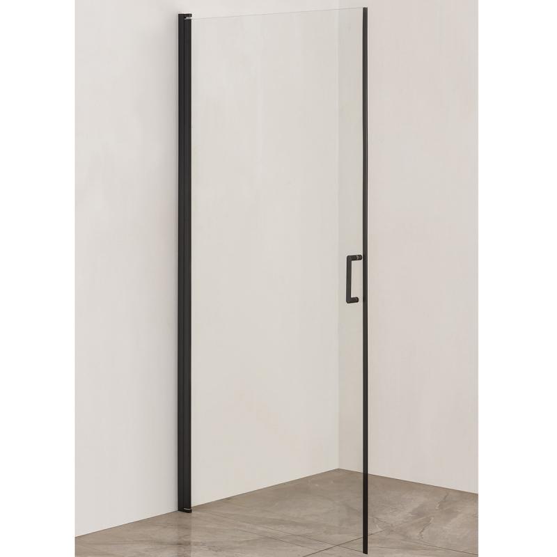 Дверь душевого уголка Orange E04-090TB/D 90x190 профиль Черный стекло прозрачное недорого