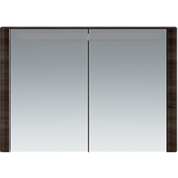 Зеркальный шкаф AM PM Sensation 100 M30MCX1001TF с подсветкой Табачный дуб зеркальный шкаф am pm spirit v2 0 60 с подсветкой l синий