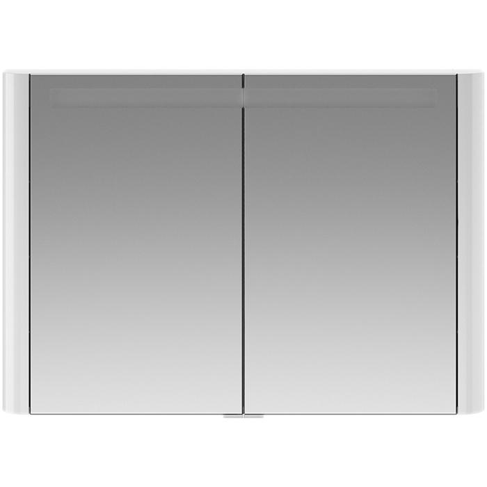 Зеркальный шкаф AM.PM Sensation 100 M30MCX1001WG с подсветкой Белый глянцевый зеркальный шкаф am pm sensation 80 петли слева белый глянцевый