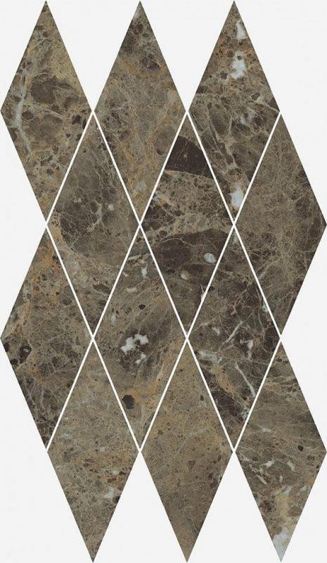 Керамическая мозаика Italon Charme Deluxe Emperador Diamond 620110000117 28х48 см керамическая мозаика italon charme deluxe arabescato diamond 620110000112 28х48 см