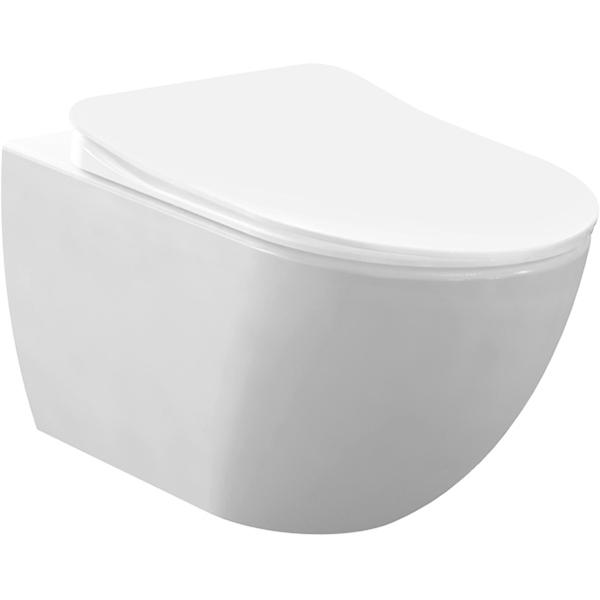 Унитаз Creavit Free FE322-11CB00E-0000 подвесной Белый без сиденья
