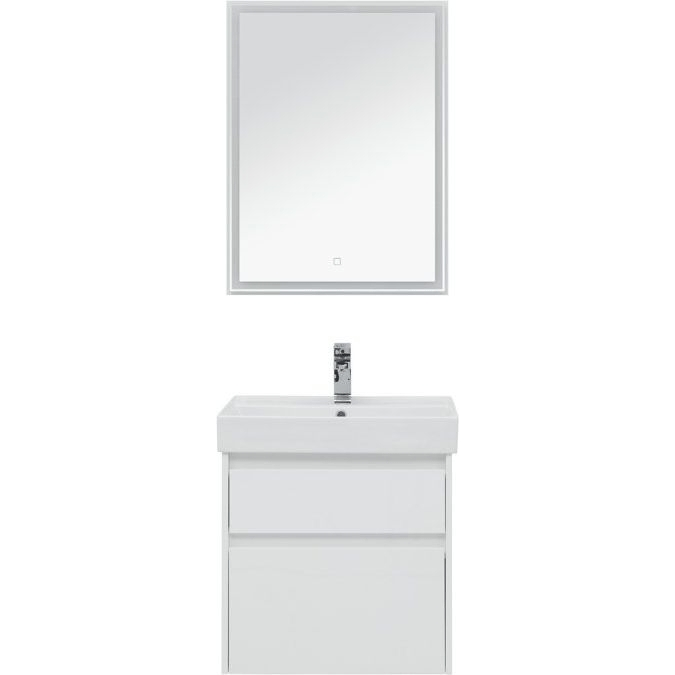 Фото - Комплект мебели для ванной Aquanet Nova Lite 60 242921 подвесной Белый комплект мебели для ванной aquanet йорк 60 203642 подвесной белый глянец