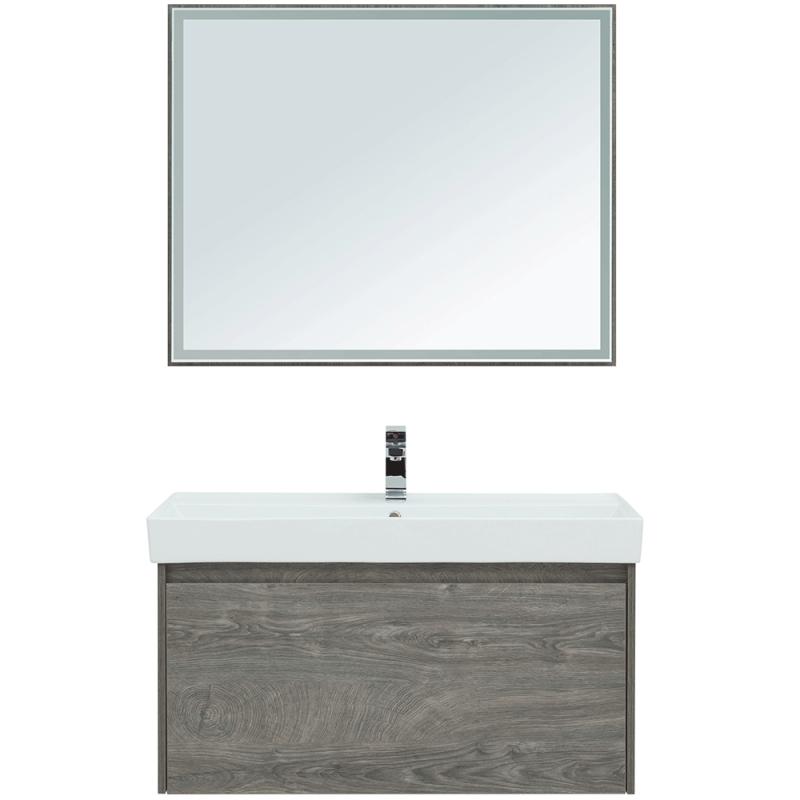 Комплект мебели для ванной Aquanet Nova Lite 100 243229 подвесной Дуб рошелье комплект мебели для ванной aquanet nova lite 90 243247 подвесной дуб рошелье