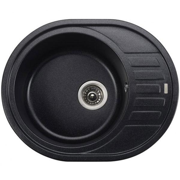 кухонная мойка kaiser kgmo 6250 g grey Кухонная мойка Kaiser KGMO-6250-BP Black Pearl