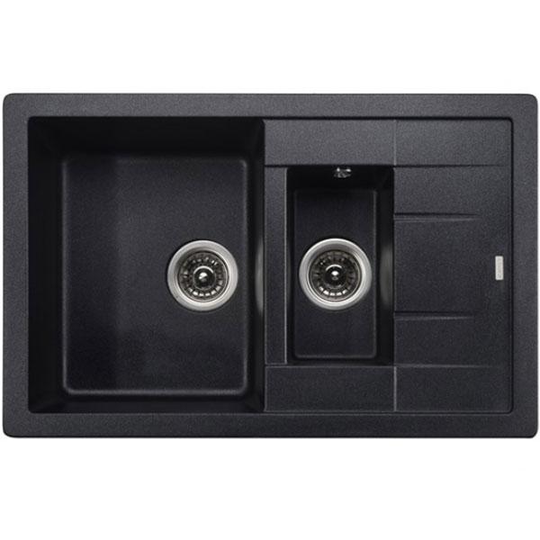 Кухонная мойка Kaiser KG2M-7850-BP Black Pearl