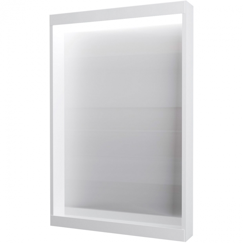 Зеркало 1MarKa Aris 60 У83226 с подсветкой Белое глянцевое