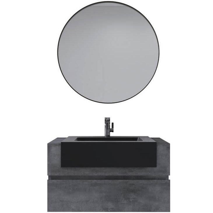 цена Комплект мебели для ванной Black&White Universe U903.1000 подвесной Пепельный онлайн в 2017 году