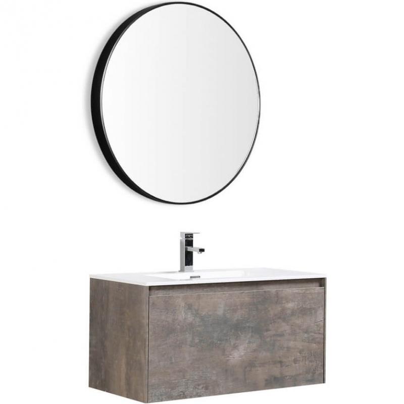 Комплект мебели для ванной Black&White