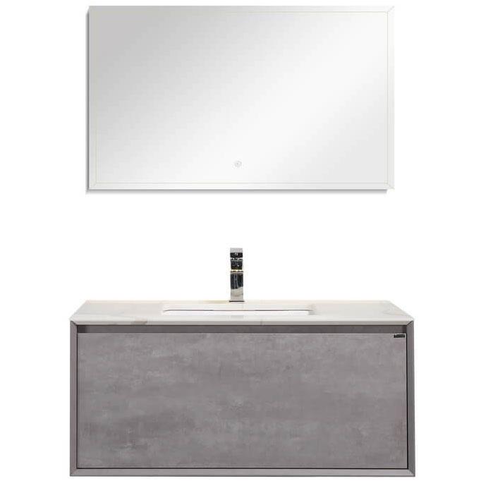 цена Комплект мебели для ванной Black&White Universe U909.1000 подвесной Пепельный онлайн в 2017 году