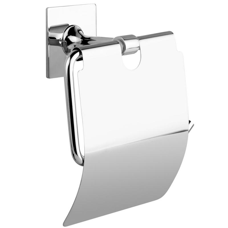 Держатель туалетной бумаги Kleber Expert KLE-EX015 с крышкой Хром полотенцедержатель kleber expert 36 kle ex024 поворотный хром