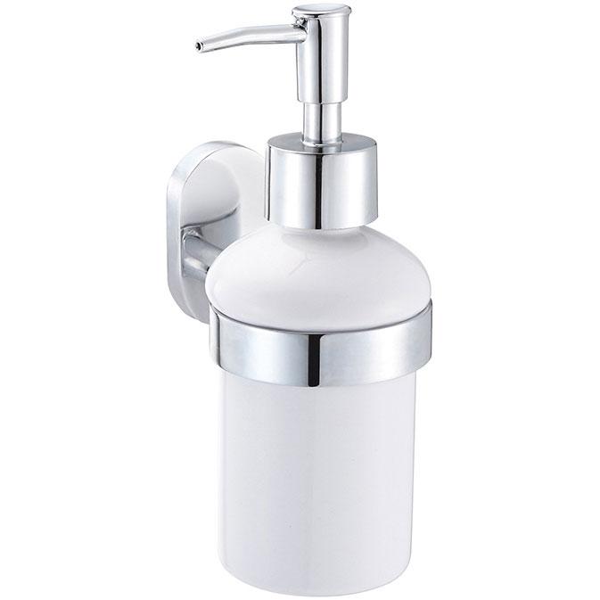 Дозатор для жидкого мыла Fora Brass BR021 Хром Белый дозатор для жидкого мыла fora brass керамический