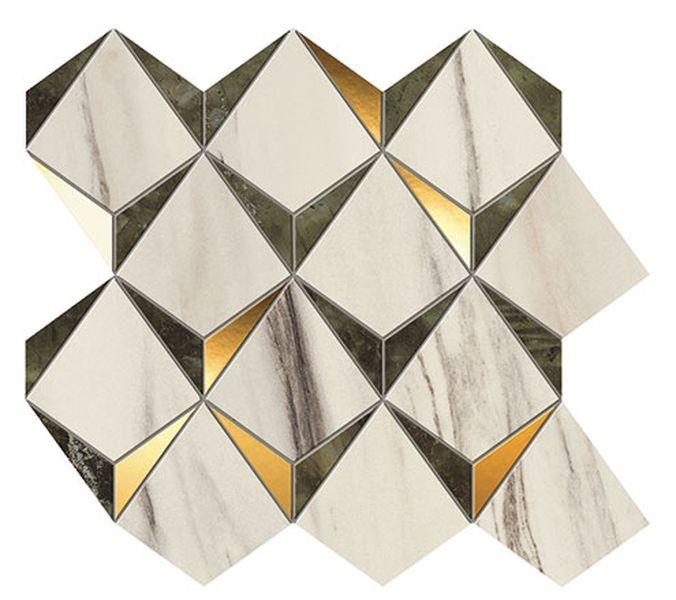 Керамическая мозаика Atlas Concorde Marvel Dream Diamonds Bianco Green 9MDG 32,9х35,8 см