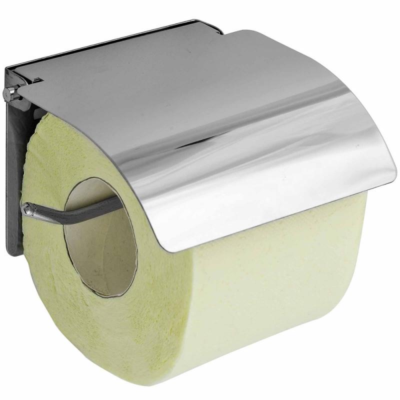 Держатель туалетной бумаги Fora К186-2 с крышкой Хром