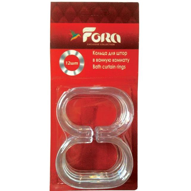 Кольца для штор Fora K12 прозрачные