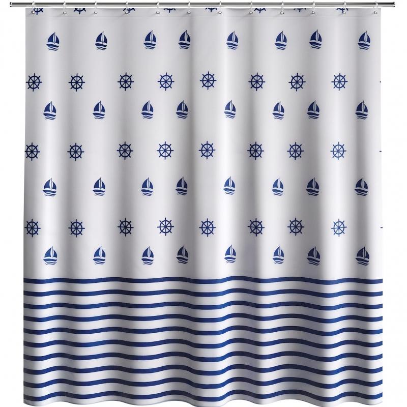 штора для ванны fora royal navy for rn096 полоски Штора для ванны Fora Royal Navy FOR-RN095 Черно-белая