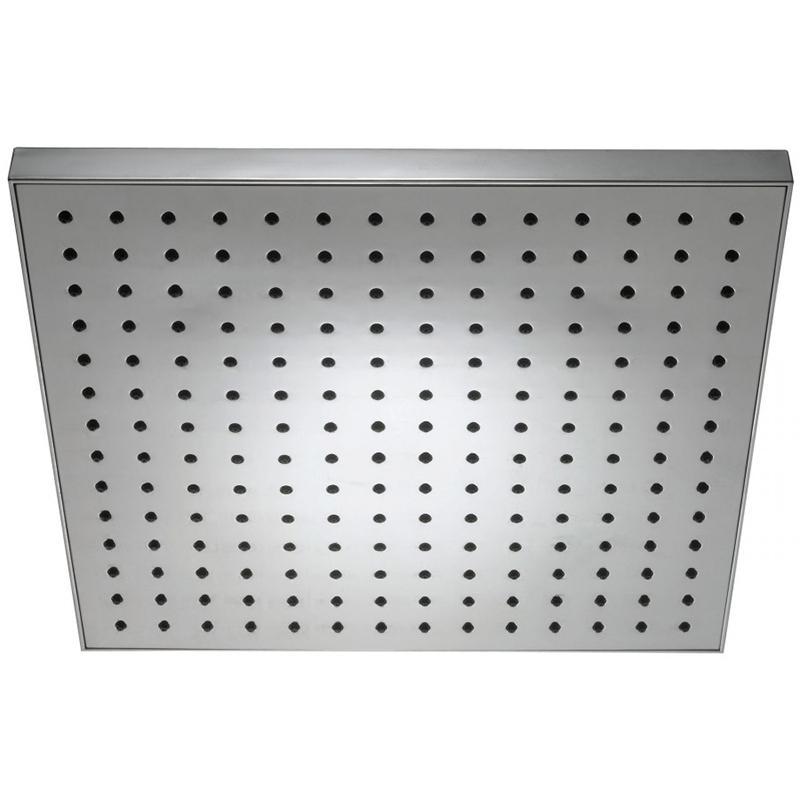 EO E3875-CP ХромВерхние души<br>Однорежимный верхний душ Jacob Delafon EO E3875-CP.<br>Квадратный верхний душ с универсальным дизайном дополнит большинство ванных комнат в современном или минималистичном стиле.<br>Изготовлен из латуни с ABS-пластиком. Антиизвестковое покрытие облегчает уход: для очистки от загрязнений поверхность достаточно протереть мягкой тканью.<br>196 форсунок обеспечивают широкий и мягкий поток воды.<br>Глянцевое покрытие цвета хром.<br>Размер: 28x28x6 см.<br>Стандарт подключения: G1/2.<br>В комплекте поставки: верхний душ.<br>