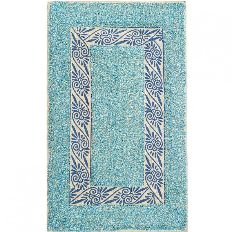 коврик для ванной комнаты fora rk 13 лист Коврик для ванной комнаты Fora 75х45 FOR-M002BL Эконом Голубой