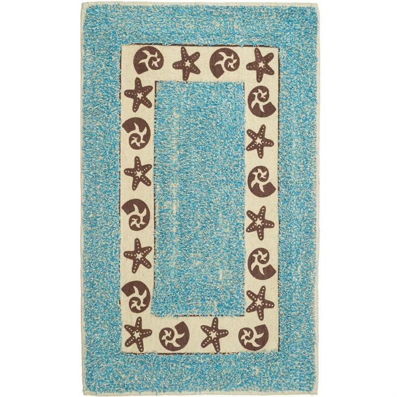коврик для ванной комнаты fora rk 13 лист Коврик для ванной комнаты Fora 75х45 FOR-M022BL Эконом Голубой