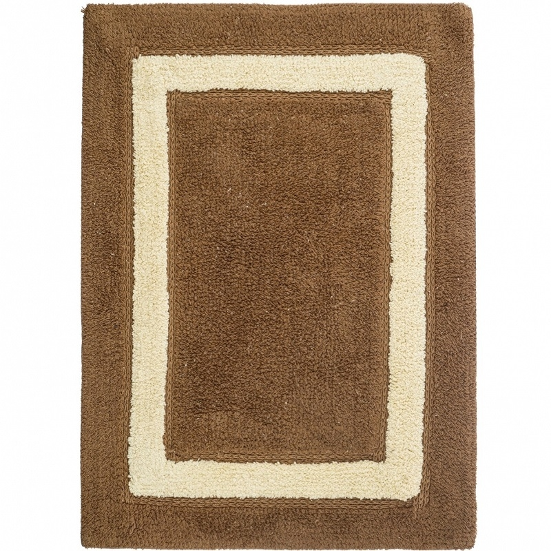 коврик для ванной комнаты fora rk 13 лист Коврик для ванной комнаты Fora 70х50 5022-1 70T Классика Тирамису