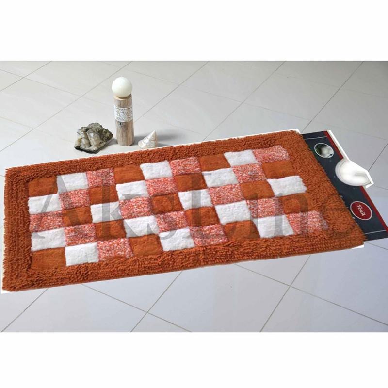 Коврик для ванной комнаты Fora 80х50 1845-1 80R Шахматы Оранжевый коврик для ванной комнаты tatkraft penguins 50 х 80 см