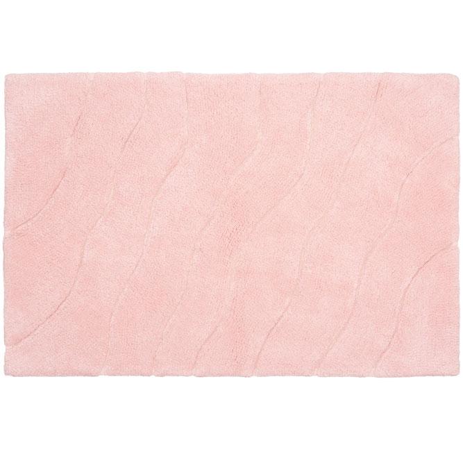Коврик для ванной комнаты Fora Trendy 80х50 FOR-TR050 Волна Розовый