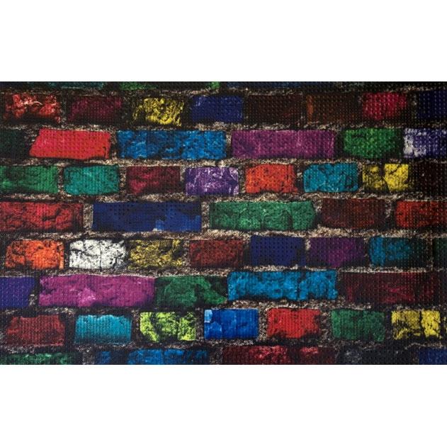 Коврик для входной двери Fora 40х60 FOR-DOOR10 Цветные кирпичи коврик для входной двери fora 40х60 for door04 шары черный
