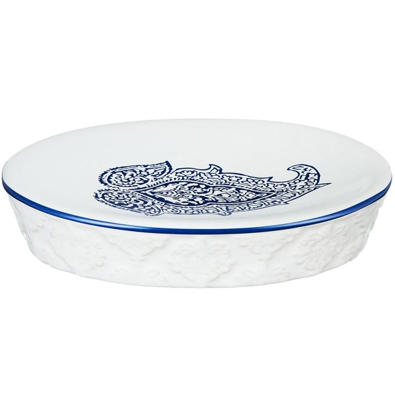 Мыльница Fora England FOR-GR036 Бело-синяя homephilosophy ваза owl randa бело синяя керамика 27 5 см