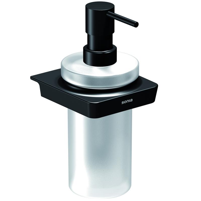 Дозатор для жидкого мыла Sonia S6 black 166466 Черный матовый дозатор жидкого мыла grohe contemporary встраиваемый в столешницу хром 40536000