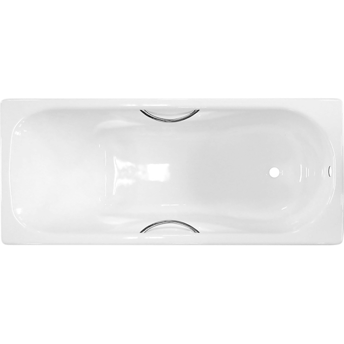 Чугунная ванна Универсал Сибирячка 150x75 442819 с отверстиями для ручек без антискользящего покрытия чугунная ванна универсал сибирячка 150 без отверстий для ручек