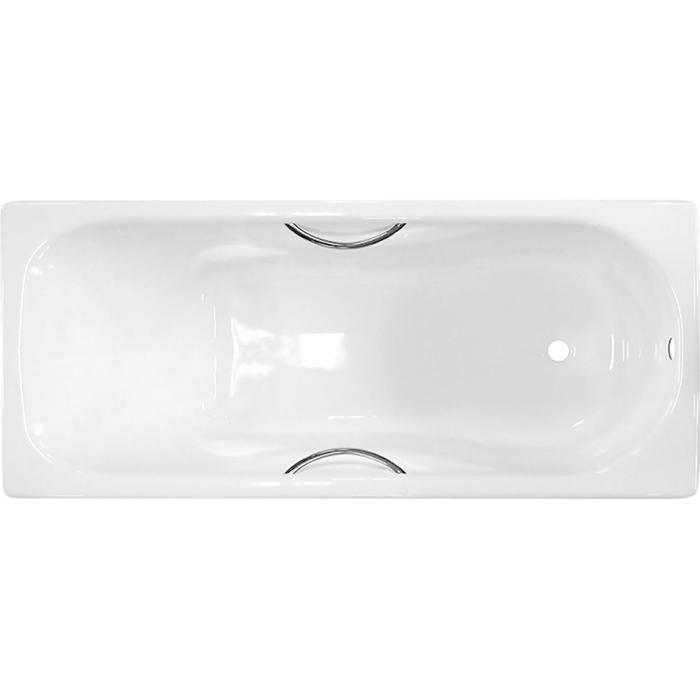 Чугунная ванна Универсал Сибирячка 170x75 442835 с отверстиями для ручек без антискользящего покрытия чугунная ванна универсал сибирячка 150 без отверстий для ручек