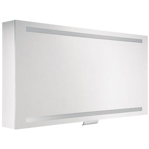 Зеркальный шкаф Keuco Edition 300 125 30202 171201 с подсветкой Белый зеркальный шкаф vigo mirella 80 с подсветкой белый