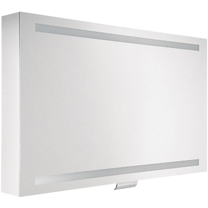 Зеркальный шкаф Keuco Edition 300 95 30203 171201 с подсветкой Белый зеркальный шкаф vigo mirella 80 с подсветкой белый