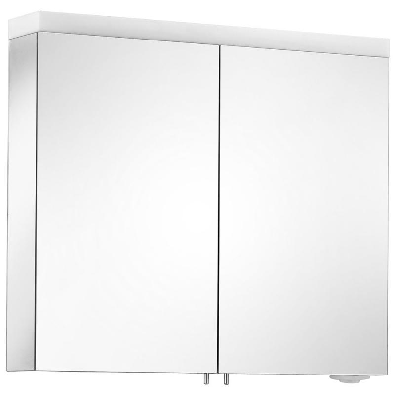 Зеркальный шкаф Keuco Royal Reflex.2 80 24203 171301 с подсветкой Серебрянный