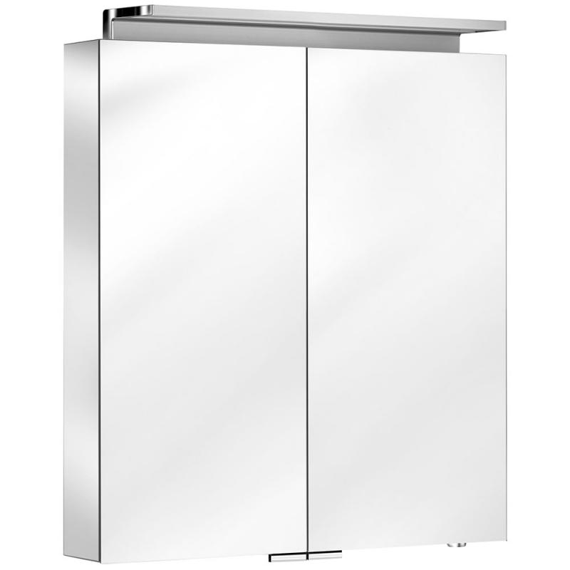 Зеркальный шкаф Keuco Royal L1 80 13603 171301 с подсветкой Серебрянный зеркальный шкаф vigo kolombo 80 с подсветкой серый