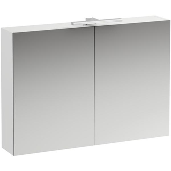Зеркальный шкаф Laufen Base 100 4.0285.2.110.260.1 с подсветкой Белый матовый шкаф пенал laufen pro new 35 подвесной l белый матовый